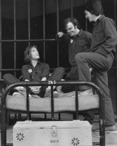 Martin Short, Peter Blais & Miles McNamara in Fortune & Men's Eyes, Theatre Aquarius, Hamilton, Ontario 1974