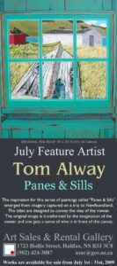 Rack card for Panes and Sills Art Show