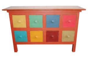 8-drawer console table