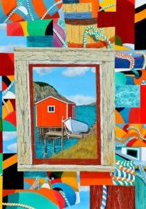 Attic Memory and Crazy Quilts by artist Tom Alway